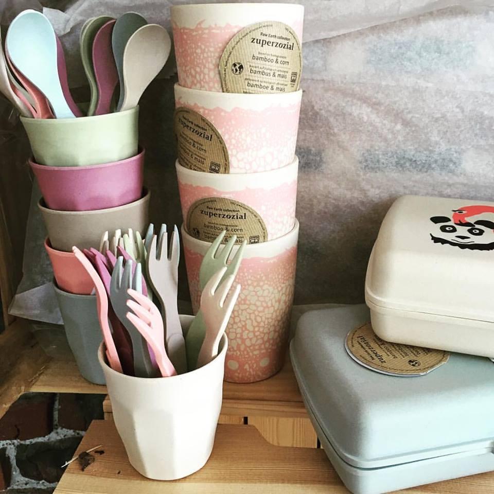 *Nouveau à la boutique* De la vaisselle et des boîtes à tartines en bambou